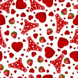 Seamless background by St. Valentine's Day. Stock Photo