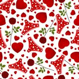 Seamless background by St. Valentine's Day. Royalty Free Stock Photography