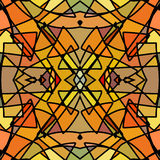 Seamless background stained-glass style. Stock Photo