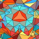 Seamless background stained-glass style. Royalty Free Stock Photo