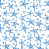 Seamless background with starfishes. Royalty Free Stock Images