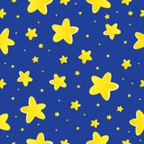Seamless background with stars 1 Royalty Free Stock Photo