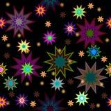 Seamless  background with stars. Dark seamless  background with stars Stock Photos