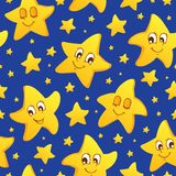 Seamless background with stars Royalty Free Stock Image