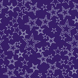 Seamless background with stars Royalty Free Stock Photo