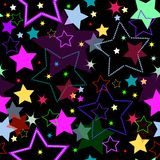 Seamless background with stars (vector) Stock Image