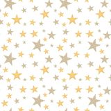 Seamless background with stars. White seamless bakcground with dotted stars stock illustration