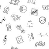 Seamless background of stock forex icons. Finance investing icon. Stock Photography
