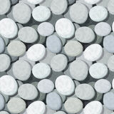 Vector seamless background with stones. Royalty Free Stock Photos