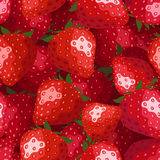 vector seamless background with strawberries. Royalty Free Stock Images