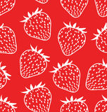 Seamless background with strawberries vector illustration
