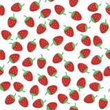 Seamless background with strawberry. On white Royalty Free Stock Image
