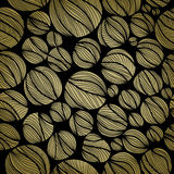 Seamless background with striped monochrome balls Stock Photography