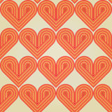 Seamless background with striped retro hearts Stock Photography