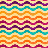 Seamless background with stripes in retro style Royalty Free Stock Photos