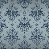 Seamless background in the style of Damascus. Seamless floral pattern for design, vector Illustration royalty free illustration