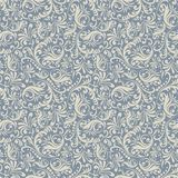 Seamless background in the style of damask blue Stock Photography