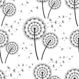 Seamless background with stylized dandelions Royalty Free Stock Images
