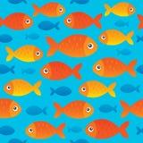 Seamless background stylized fishes 2 Royalty Free Stock Photo