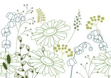 Seamless background with stylized flowers Royalty Free Stock Photography