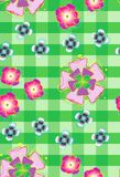Seamless background with stylized flowers_2 Stock Image