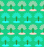 Blossoming trees. Royalty Free Stock Photos