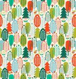 Seamless background with stylized trees. Nordic forest pattern. Seamless background with stylized trees. Nordic forest pattern Stock Images