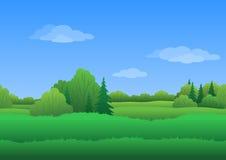 Seamless background, summer landscape Stock Image