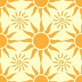 Seamless background with the sun Royalty Free Stock Photo