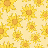 Seamless background of sunflowers. Vector seamless background of sunflowers Stock Photos