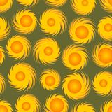 Seamless background with sunny patterns Stock Photos