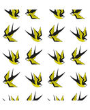 Seamless background with swallows. Stock Images