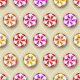 Seamless background with sweets Royalty Free Stock Photography