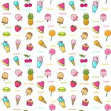 Seamless background of sweets Royalty Free Stock Images