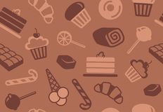 Seamless background of sweets. Seamless background with the image of sweets and chocolate Royalty Free Stock Images