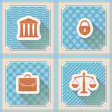 Seamless background with symbols of law and courts Royalty Free Stock Photography
