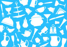 Seamless background of tableware Royalty Free Stock Images