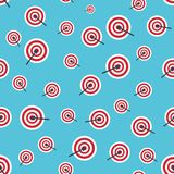 Seamless background with targets Royalty Free Stock Image
