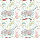 Seamless Background with taste Fish dish Royalty Free Stock Photo