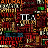 Seamless background with tea tags Stock Image