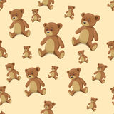 Seamless background teddy bear toy vector Stock Photography