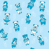 Seamless background with teddy bears Stock Images