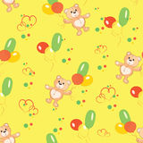 Seamless background with teddy bears. Stock Image