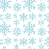 Seamless background template with blue snowflakes Royalty Free Stock Image