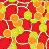 Seamless background template- colorful melons,kiwi,oranges Royalty Free Stock Photo