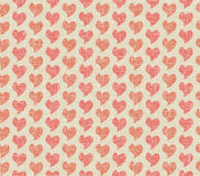 Seamless background of textile with hearts Royalty Free Stock Photo