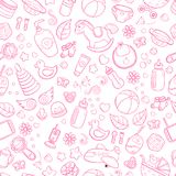 Seamless background, texture, backdrop, pattern, wallpaper with children cartoon doodle toys. Educational games for kids. Seamless background, texture, backdrop Stock Photography