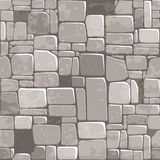Seamless background texture grey stone wall. Vector illustration For Ui Game element stock illustration