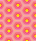 Seamless background texture made of hexagons Stock Images