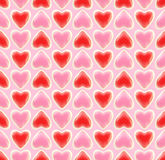 Seamless background texture made of love hearts Stock Image